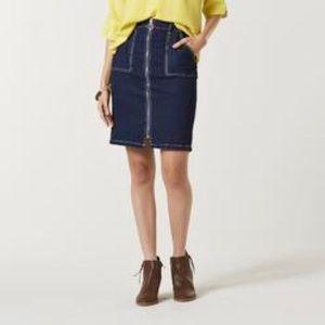 Roebuck & Co. Zipper Down Denim Skirt